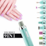 New 9 In 1 Electric Nail Drill Machine Set