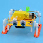 New DIY Walking RC Robot Toy STEAM Educational Kit Gift For Kid Children