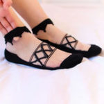 New Women Summer Ultra-Thin Mesh Breathable Lace Low Cut Sock