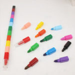 New Creative Coloring Crayon 12 Color Crayon Painting Stick Pen Student Stationery