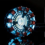 New Tony DIY Arc Reactor Lamp Kit Or Builted Models LED Flash Light Set