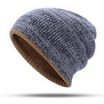 New Double-Sided Wearing Double-Layer Knit Hat Beanie Cap