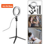 New Bluetooth Tripod Selfie Stick With LED Ring Fill Light with Stand Lighting Kit for Phone Camera