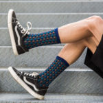 New Men Plaid Medium Long Tube Socks Deodorization Athletic Sock