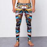 New SEOBEAN Men Printing Tight Shapwear Home Underwear Long John