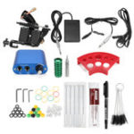 New Beginner Tattoo Machine Kit Complete Set Needle Pedal
