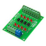 New 5V To 24V 4 Channel Optocoupler Isolation Board Isolated Module PLC Signal Level Voltage Converter Board 4Bit
