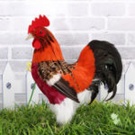 New Realistic Rooster Chicken Cockerel Feather Prop Garden Farm Animal Decorations