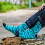 New Men Stripe Combed Cotton Tube Sock Athletic Sock
