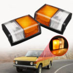 New Front Left/Right Side Corner Lights Turn Indicator Lamp Square Plug for Range Rover 1971-1986