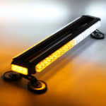 New 26Inch 162W LED Emergency Warning Lights Bar Double Side Flash Strobe Lamps 12V Yellow+White