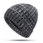New Men Women Winter Mixed Color Earmuffs Knit Plush Beanie Hat