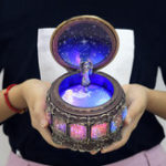 New Vintage Zodiac Luminous Music Box with LED Lights Birthday Valentine's Day Gift Constellation