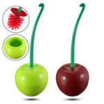 New Lovely Cherry Shaped Toilet Cleaning Brushes Holder Bathroom Cleaning Kit Creative Cute Set