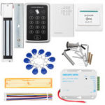 New Door Access Control Touchpad Password Magnetic Lock DC 12V Power Supply Kit