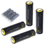 New 4Pcs Soshine 3.7v 800mah AA LiFePO4 Li-ion Battery Protected High Discharge Rechargeable Battery + Box