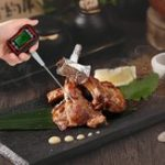 New Digital Food BBQ Cooking Thermometer Instant Read Pyrometer Temperature Gauge with Adjustable Probe LCD Backlit Display