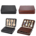 New 8 Grids Watch Display Zippered Travel Storage Box Case