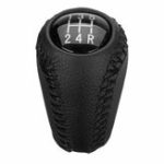 New 5-Speed Black PU Leather Car Gear Shift Knob Head Shifter For Mazda 3 5 6 Series