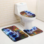 New 3PCS Swans Flowers Cascade Bathroom Toilet Seat Covers Cushion Home Decor