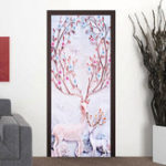 New Christmas Deer Wall Sticker Window Door Sticker Art Home Party Decor Decal 45*200CM