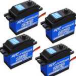 New 4PCS SPT5525LV-210 25KG Digital Servo 210° Large Torque Metal Gear For RC Robot