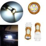 New HID White 27-3528-SMD LED Car DRL Daytime Running Lights Bulb 3156 3157 4114 4157