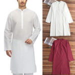 New Men's Cotton Kurta Kaftan Dress Shirts