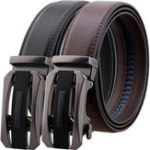 New 125CM Second Layer Cowhide Leather Business Belt
