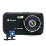 New Junsun 4 Inch Full HD 1296P ADAS Dual Lens IPS Video Recorder Night Vision Car DVR Camera