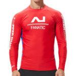 New Men's Long Sleeve Swimsuit Rashguard Surf Shirt