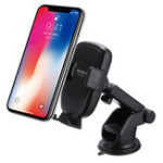 New QI 10W Infrared Sensor Car Wireless Fast Charger Phone Holder Dashboard Bracket for iPhone XS XR X