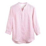 New Mens Cotton Brief Solid Color Popover Buttons Loose Shirts