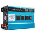 New 6000W Solar Power Inverter DC 12/24V to AC 110V LED Modified Sine Wave Converter