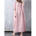New Half Sleeve Crew Neck Loose Maxi Dress