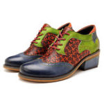 New SOCOFY Handmade Stitching Leather Shoes