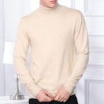 New Mens Fashion High Collar Casual Sweaters