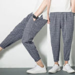 New Mens Harem Pants Baggy Pockets Comfy Casual Trousers
