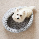 New Knitted Pet Bed Dog Cat Bed Puppy Pillow House Soft Warm Dog House Mat