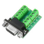New Female Head RS232 Turn Terminal Serial Port Adapter DB9 Terminal Connector