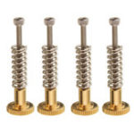 New 4Pcs UM2 Heated Bed Leveling Hand Adjustment Fixing Nut Part Kit w/ M3 Screw for 3D Printer