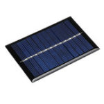 New 5pcs 0.6W 6V 90*60*3mm Mini Photovoltaic Epoxy Solar Panel DIY Part