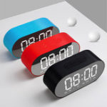 New 3W 4 Ohm Alarm Clock FM Radio Wireless Bluetooth Speaker Aux TF USB Music Mirror Display