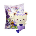 New Puni Maru Yummiibear Squishy Grape Bear 12cm Animal Slow Rising Doll With Original Packing