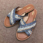 New Bohemian Beach Slippers Cross Band Casual Flat Sandals