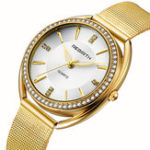 New REBIRTH RE115 Diamond Dial Case Elegant Women Watch