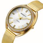 New REBIRTH RE115 Diamond Dial Case Elegant Women Watch