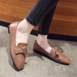 New Women Casual Shoes Knot Slip On Flats Loafers