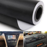 New 38cm x 100cm Carbon Fiber Pattern Car Interior Decoration Stickers Protective Film