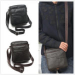 New Outdoor Travel Vintage Men Genuine Leather Cowhide Shoulder Crossbody Bag Messenger Sling Satchel Briefcase